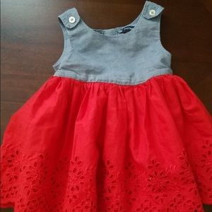 de2707ad78f GAP Dresses - Baby Gap Red Chambray Eyelet Dress 18-24 Months